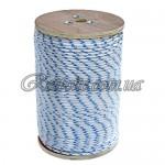 Веревка для якоря 6мм. бело-синяя