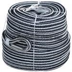 Якорная веревка черно-белая 10мм 30м.