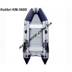 Килевая надувная моторная лодка Kolibri KM-360Д