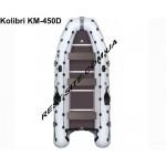 Моторная лодка с надувным килем Kolibri KM-450Д
